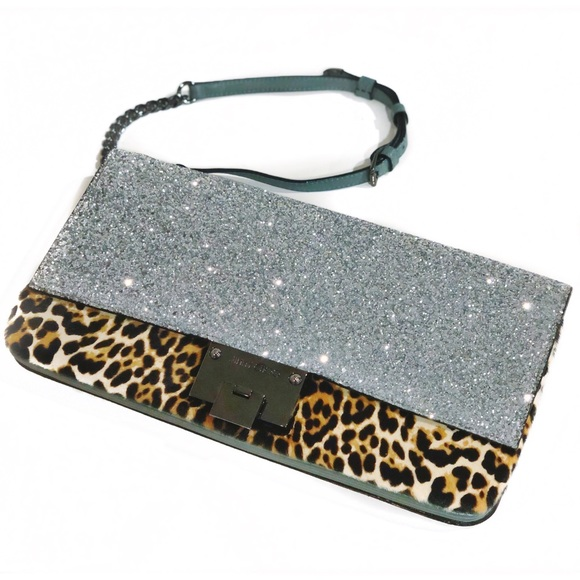 Jimmy Choo Handbags - JIMMY CHOO Glitter/Leopard Purse - NWT